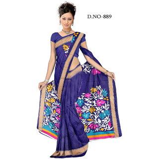 svb sarees blue bhagalpuri sarees