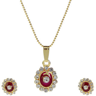 14Fashions Red Festive dangly Pendant Set -1202022