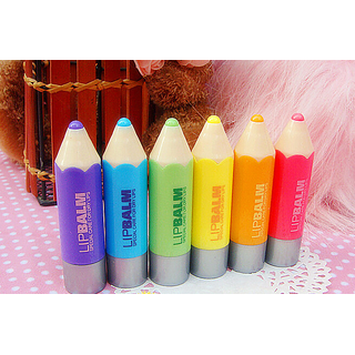 COMBO OF 6DREAM CRAYONS 6 FRUITY ODOUR 6 FLAVOURED COLOR LIP BALM LIPSTICK