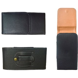 Totta Holster for Micromax Bolt Q338 (Black)