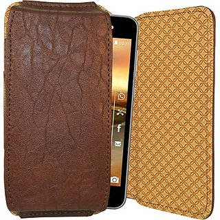 Totta Pouch for Karbonn A2 (Brown)