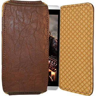Totta Pouch for Celkon Q405 (Brown)