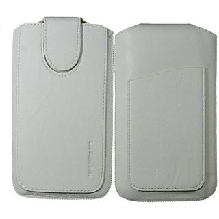 Totta Pouch for Celkon Millennia Ultra Q500 (White)