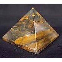 Subhashini Crystal Shop TIGER EYE STONE PYRAMID 20mm