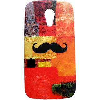 Moto G3 Mustache Printed Coloured Hard Back Case/Cover