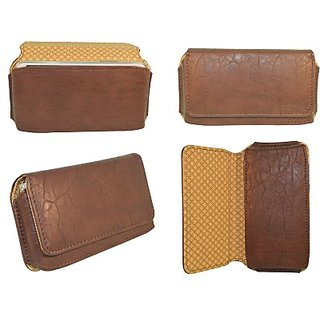 Totta Pouch for Karbonn titanium s200 HD (Brown)