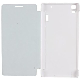 Premium flip cover for Lenovo A7000/K3 Note White