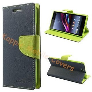 new products 52018 23b60 Mercury Blue Wallet Flip Cover Case for Sony Xperia Z Ultra XL39H C6802