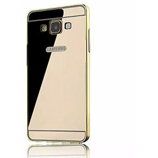 Mirror Back Cover Case Metal Frame Samsung A8 Gold