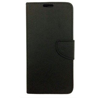 Infocus M370  Back Synthetic Leather Flip cover Case Black
