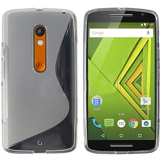 XpressMobi Moto X Play Transparent Back Cover