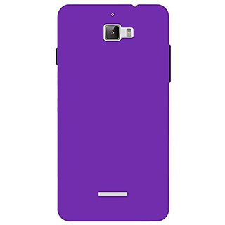 Hard Back Case Cover For Micromax Canvas Nitro A310/A311 (Purple)