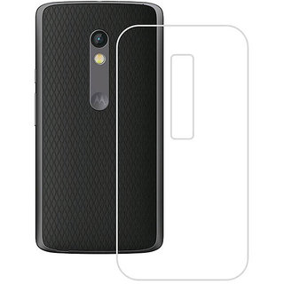 NeeShee Silicone Back Cover for Motorola Moto X Play - Transparent