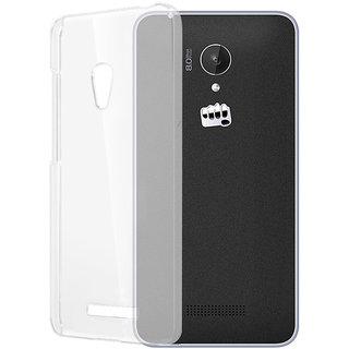 Micromax Canvas Spark Q380 Clear Transparent TPU Back Cover Case