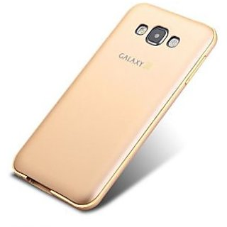 Samsung J7 Hard Plastic + Metal Bumper Cover Case Gold