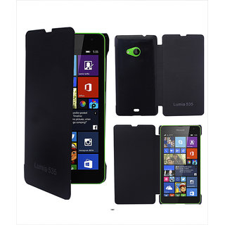 Clickcases Flipcover For Microsoft Lumia 535 - Black