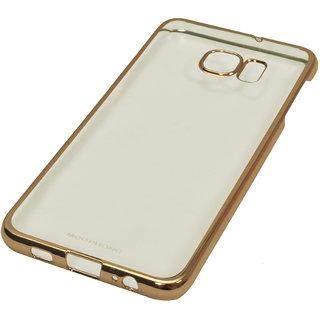 MEEPHONE Transparent Golden Noble Series Back Cover For Samsung S6 Edge Plus- Golden