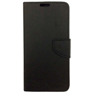 Fabdeal Mercury Flip Cover For Micromax Canvas Doodle 3 A102 - Black