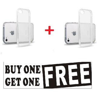 Apple iPhone 4 / 4S Transparent Back Cover (BUY 1 GET 1 FREE)