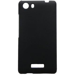 Mercator Rubberized Coated Matte Hard Back case for Micromax Unite 3 Q372 (Black)