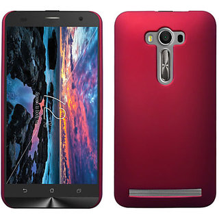 Mercator Rubberized Coated Matte Hard Back Case for Asus Zenfone 2 Laser ZE550KL (Red)