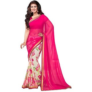 Dares Immaculate Floral Print Chanderi Cotton Sarees
