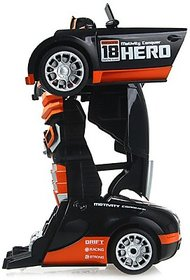 The Flyers Bay Troopers RC Transforming Hero Car cum Robot Simulation Model with Sound Light (Red)(Multicolor)