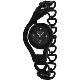 Glory Black Chain Fancy Ladies Watch