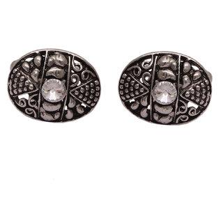sushito Ethnic Rajasthani Silver Cufflink JSMFHMA0822