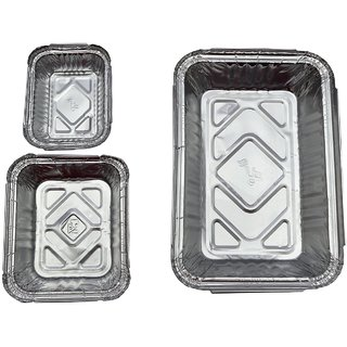 Amit Silver Foil Container, combo pack of,Size (250ml,450ml,750ml)