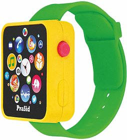 PraSid English Learner Smart Watch for Kids (Yellow  Green)