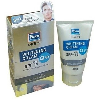 YOKO MEN WHITENING CREAM Q-10 WITH SPF 15 40g.