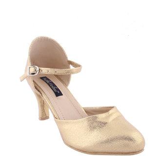 Funku Fashion Women's Gold Heels