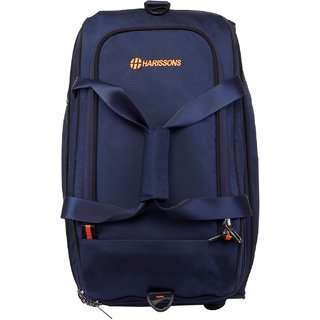Harissons D-Lite Expander Trolley Navy Blue Duffel Strolley Bag