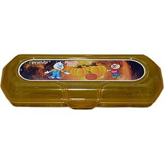 SUBAMSTORES Art plastic Pencil Box(Set of 1, BROWN)