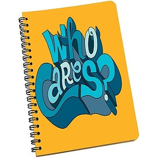 meSleep Who Cares NBA5-02-007 A5 Notebook Ring Bound(Multicolor)