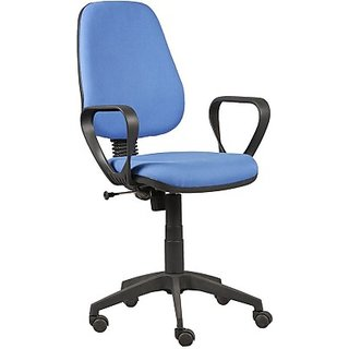 RSFURNITURE Parin Fabric Office Chair Brand   Blue