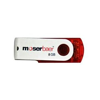 Moserbaer Swivel 8 GB Utility Pendrive (Red)