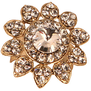 Flower Shaped Stone Finger Ring(SF3062)
