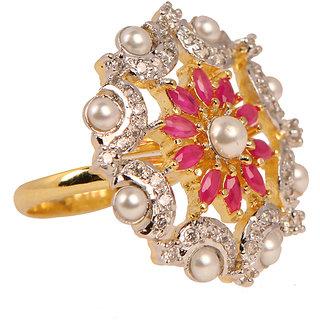 Designer Ad  Pearl Cocktail Ring(SF3025)