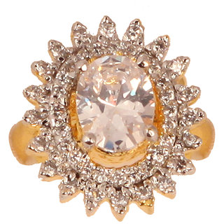 Oval Shaped Designer Ad Ring(SF3034)