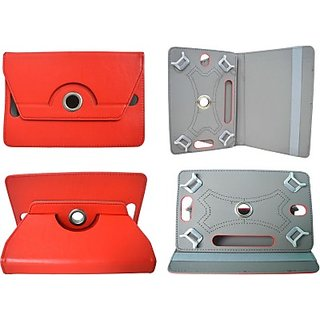 Totta Book Cover For Iball Slide 3G 7345Q 800 (Red)