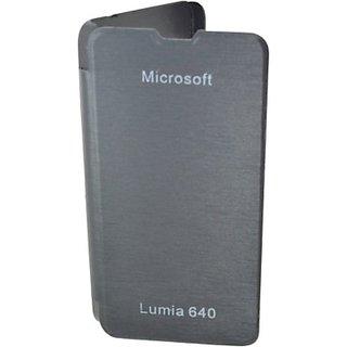 Totta Flip Cover For Microsoft Lumia 640 (Black)