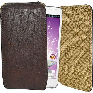 Totta Holster For Micromax Canvas Fun A74 (Brown)