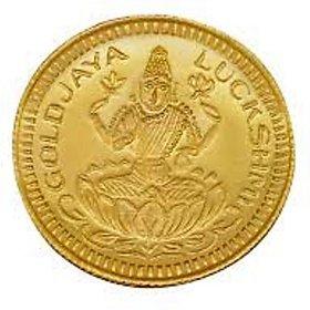 Chahat Jewellers 0.5grams 916 Gold Lakshmi Coin