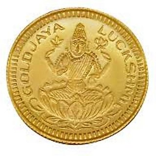 Chahat Jewellers 1grams 916 Gold Lakshmi Coin