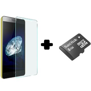 tempered glass screen protector For Micromax Canvas Fire 4G Q411 With Memory Card