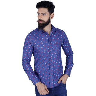 Integriti Blue Button Down Full Sleeve Mens Casual Shirt
