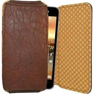 Totta Pouch For Karbonn S15 (Brown)