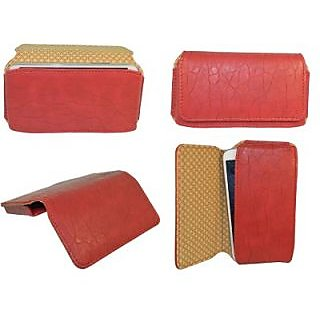 Totta Pouch For Micromax A110 Canvas 2 (Red)